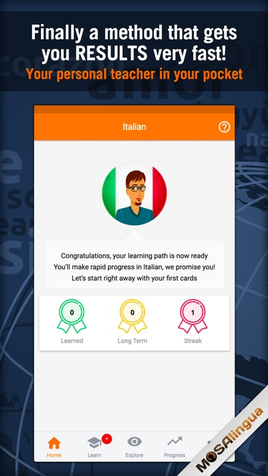 Learn Italian - MosaLingua Screenshots