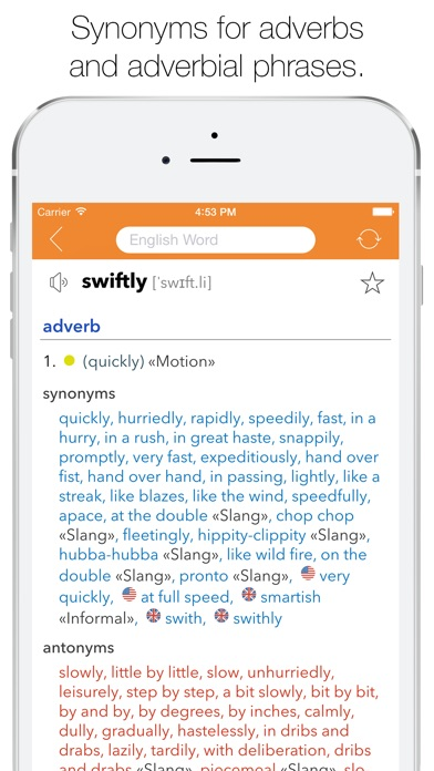 English Thesaurus Screenshots
