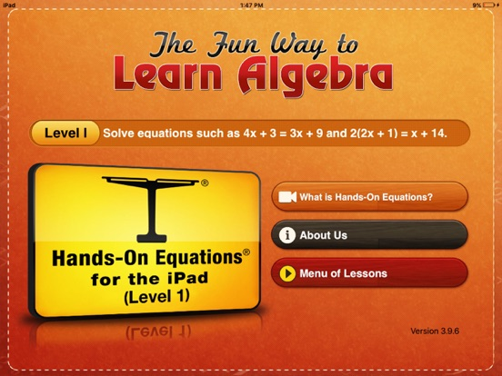 Hands-On Equations 1 Screenshots