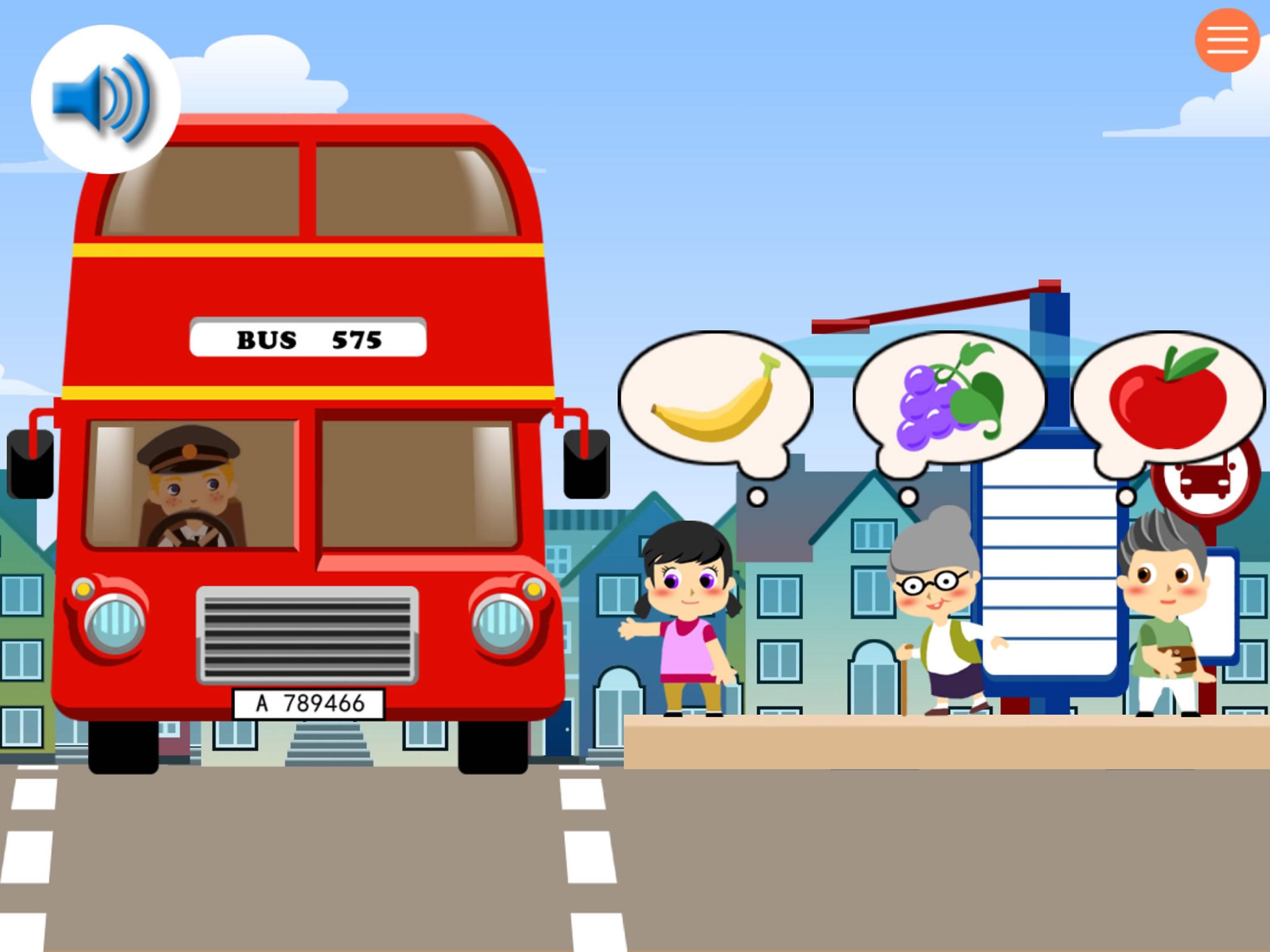 bus driver - game for kids:宝宝当公共汽车巴士司机-儿童拼图游戏图片