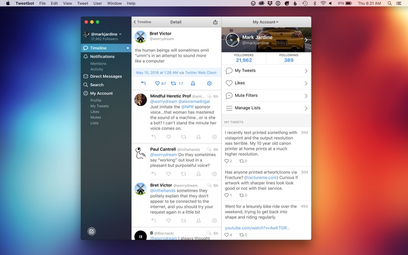 Tweetbot 3 for Twitter Screenshots