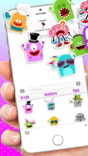 滑稽贴纸对于iMessage-a表情表情符号微双手表情包信动画图片