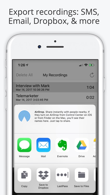 Can i history a phone call accompanying a voice recorder