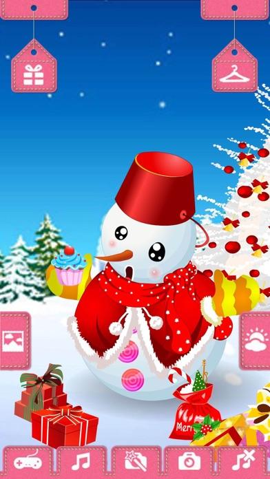 圣诞节可爱雪人 - 有趣的装扮