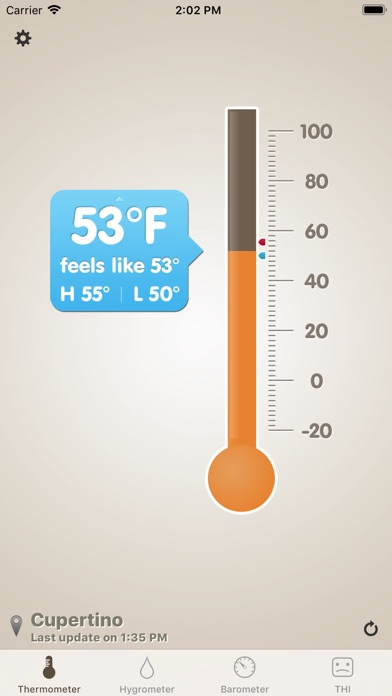 Thermo-hygrometer Screenshots