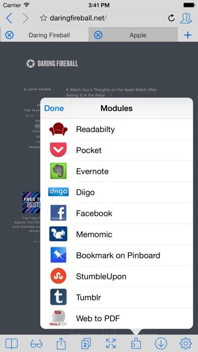 iCab Mobile (Web Browser) Screenshots