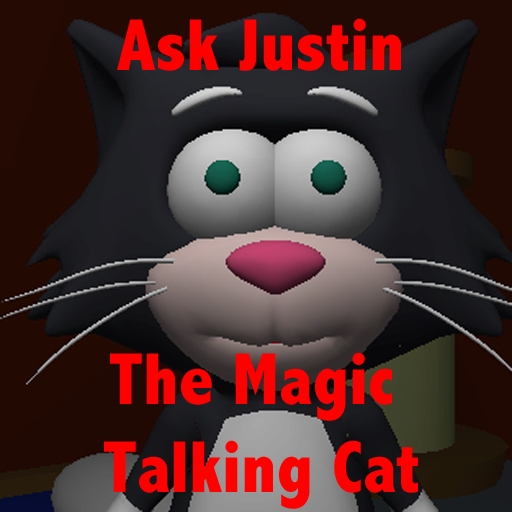 Ask Justin The Magic Talking Cat for iPad -Free- icon