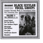 Black Secular Vocal Groups Vol. 2: The Thirties (1931-1939)