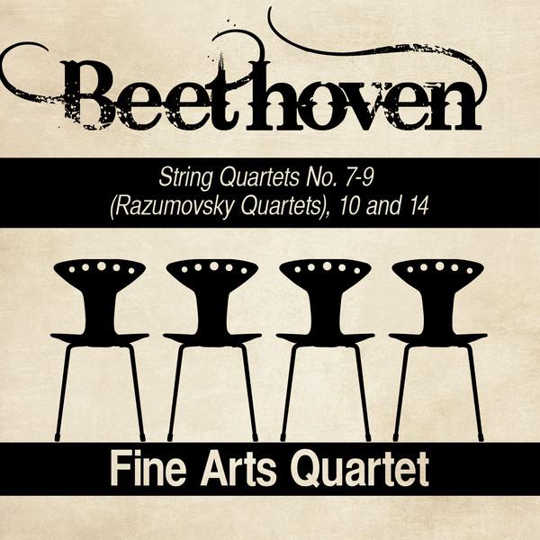 Beethoven: String Quartets Nos  7-9 (Razumovsky Quartets), 10 and 14 by  Fine Arts Quartet