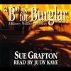 Sue Grafton - B is for Burglar: A Kinsey Millhone Mystery artwork