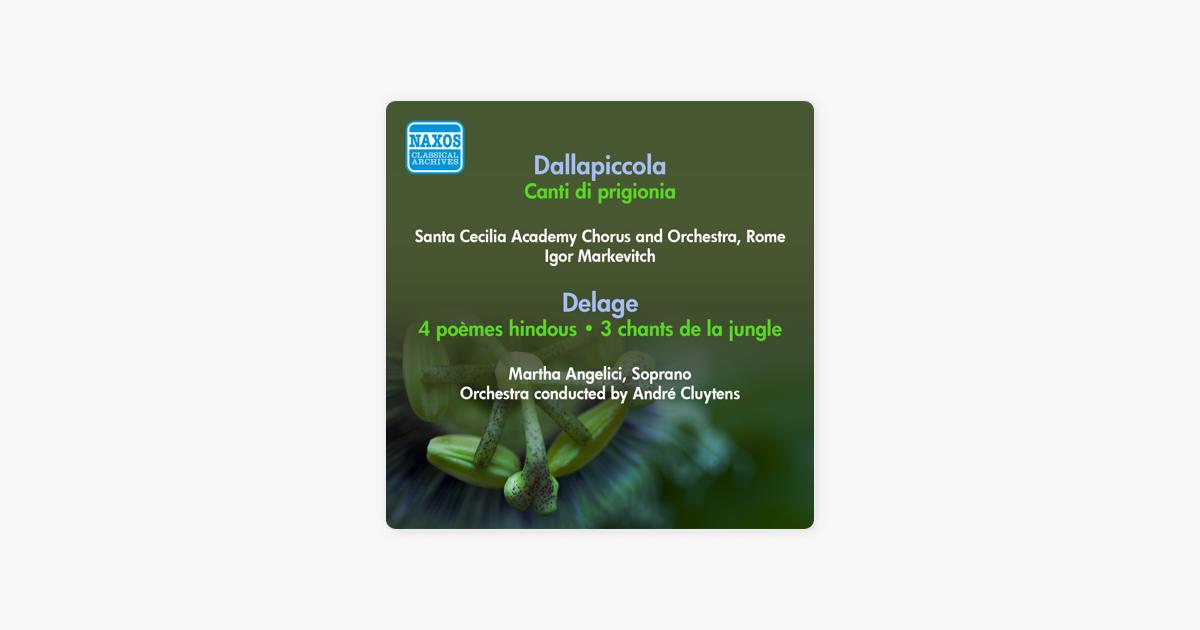 Dallapiccola L Canti Di Prigionia Delage M 4 Poemes Hindous Markevitch Cluytens Unesco Program 1955 De Santa Cecilia Academy Chorus