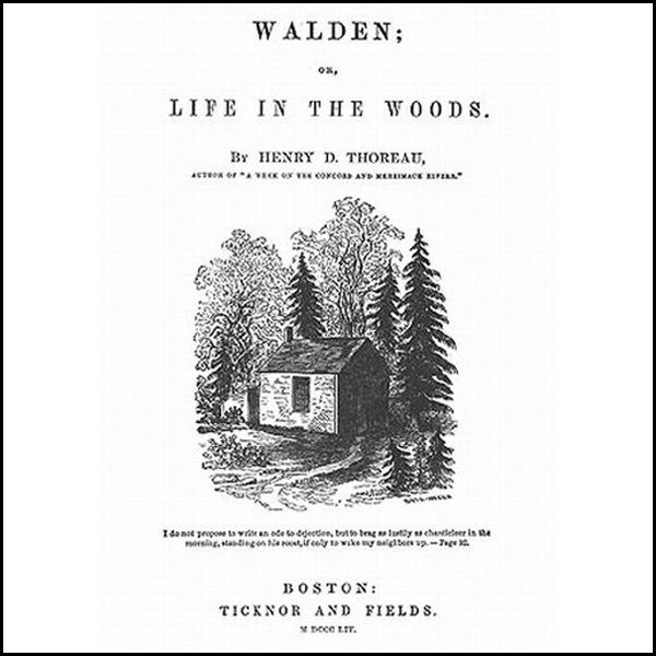 Walden Life In The Woods Album Cover By Henry David Thoreau