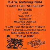 Masters At Work - I Can't Get No Sleep (feat. India)