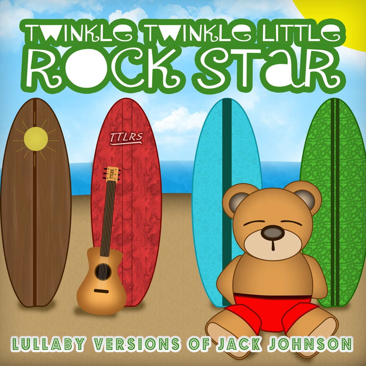 Lullaby Versions of Jack Johnson Twinkle Twinkle Little Rock Star CD cover
