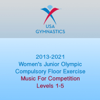 2013-2021 Women's Junior Olympic Compulsory Floor Exercise (Music For Competition) - USA Gymnastics