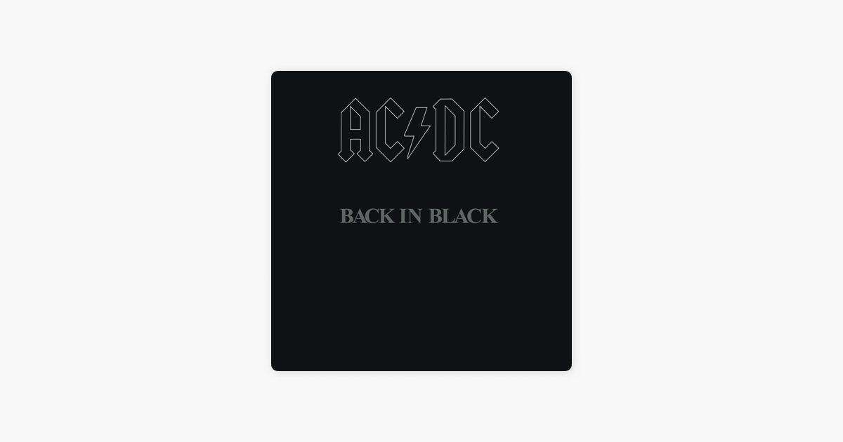 ac dcの back in black をapple musicで
