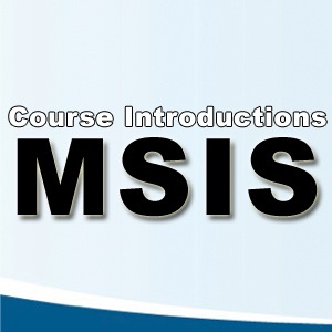 MSIS Course Introductions - Undergraduate