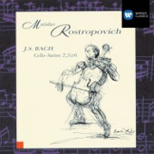 Mstislav Rostropovich - 6 Suites (Sonatas) for Cello BWV1007-12, Suite No.2 in D minor, BWV1008: Sarabande