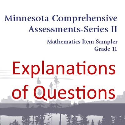 MCA-II Math Question Explanations