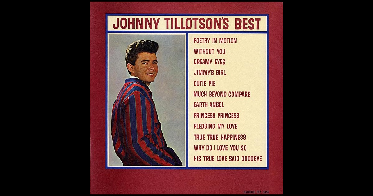 Johnny Tillotson - Poetry In Motion / Princess, Princess