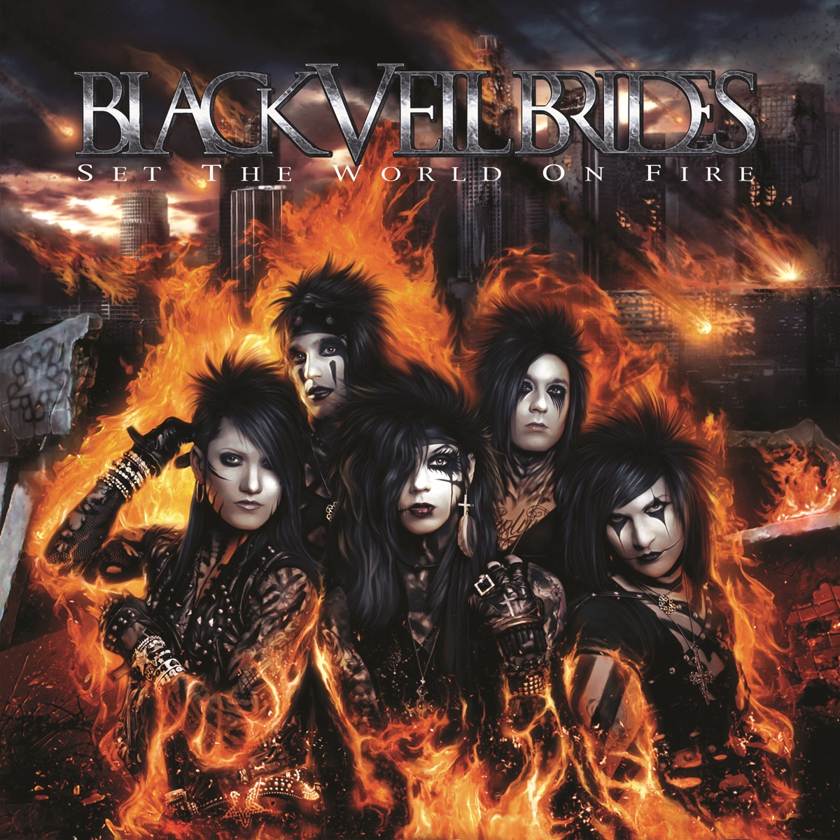 Set the World On Fire Black Veil Brides CD cover