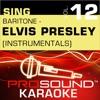 Sing Baritone Elvis Presley Vol 12 Karaoke Performance Tracks