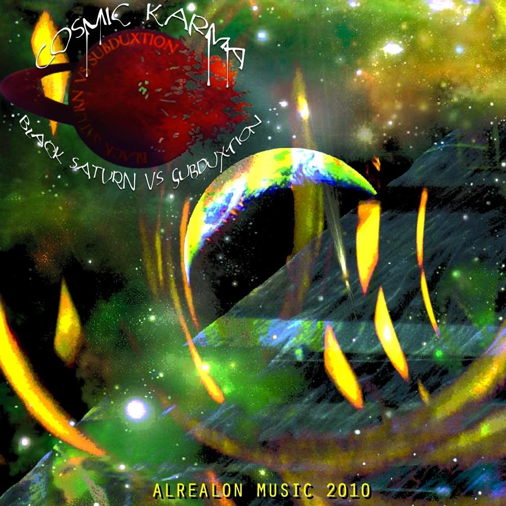 Cosmic Karma - EP Black Saturn  Subduxtion CD cover