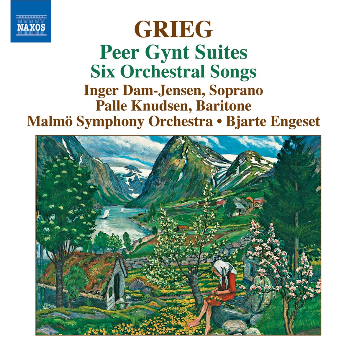 Greig Peer Gynt Suites Six Orchestrated Songs Bjarte Engeset Inger Dam-Jensen Malmö Symphony Orchestra  Palle Knudsen CD cover