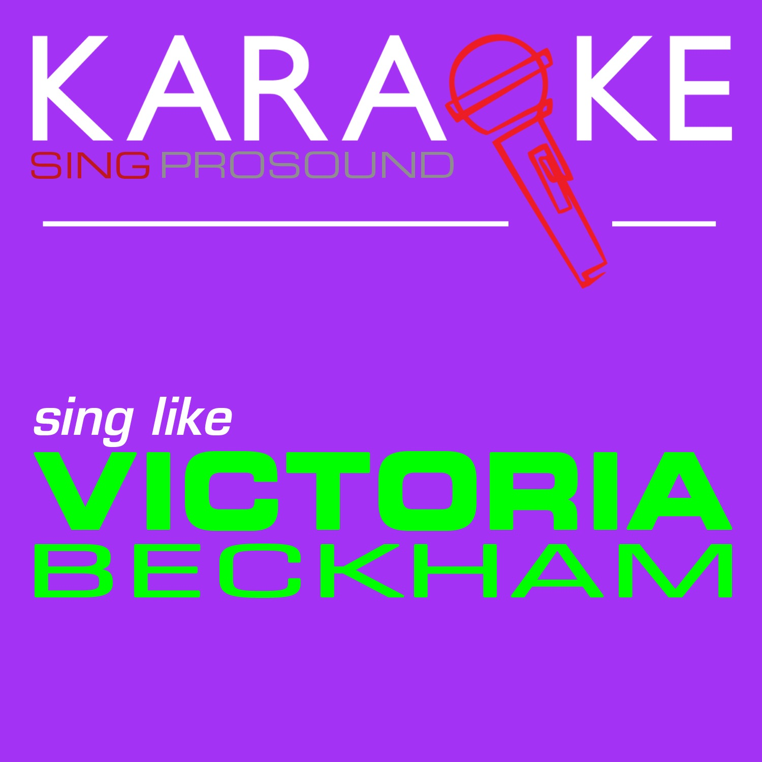 Karaoke in the Style of Victoria Beckham - Single