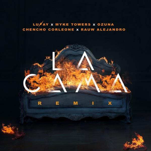 La Cama (Remix) [feat. Chencho Corleone & Rauw Alejandro] - Single