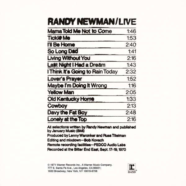 Randy Newman (Live)