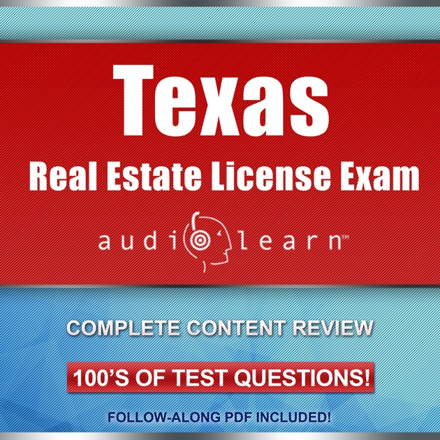 Texas Real Estate License Exam Audiolearn Complete Audio Review For