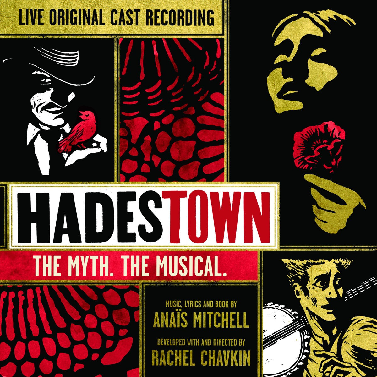 Hadestown The Myth The Musical Original Cast Recording Live Original Cast of Hadestown CD cover