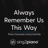 Always Remember Us This Way (Lower Key) Originally Performed by Lady Gaga] [Piano Karaoke Version]