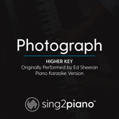 Photograph (Higher Key) Originally Performed by Ed Sheeran] [Piano Karaoke Version]