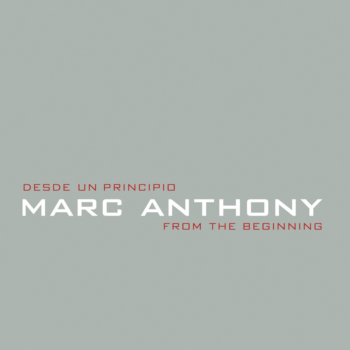 Desde un Principio  From the Beginning Marc Anthony CD cover