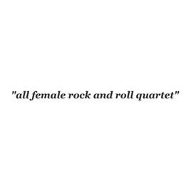 apple music logo white. all female rock and roll quartet apple music logo white