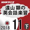 遠山 顕 - NHK 遠山顕の英会話楽習 2018年11月号(下) アートワーク
