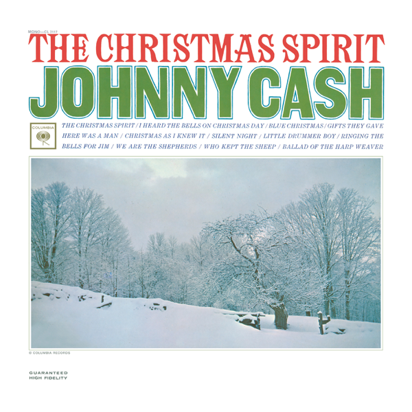 Johnny Cash I Heard The Bells On Christmas Day.The Christmas Spirit By Johnny Cash