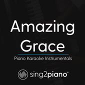 Amazing Grace (Key of F) [Piano Karaoke Version]