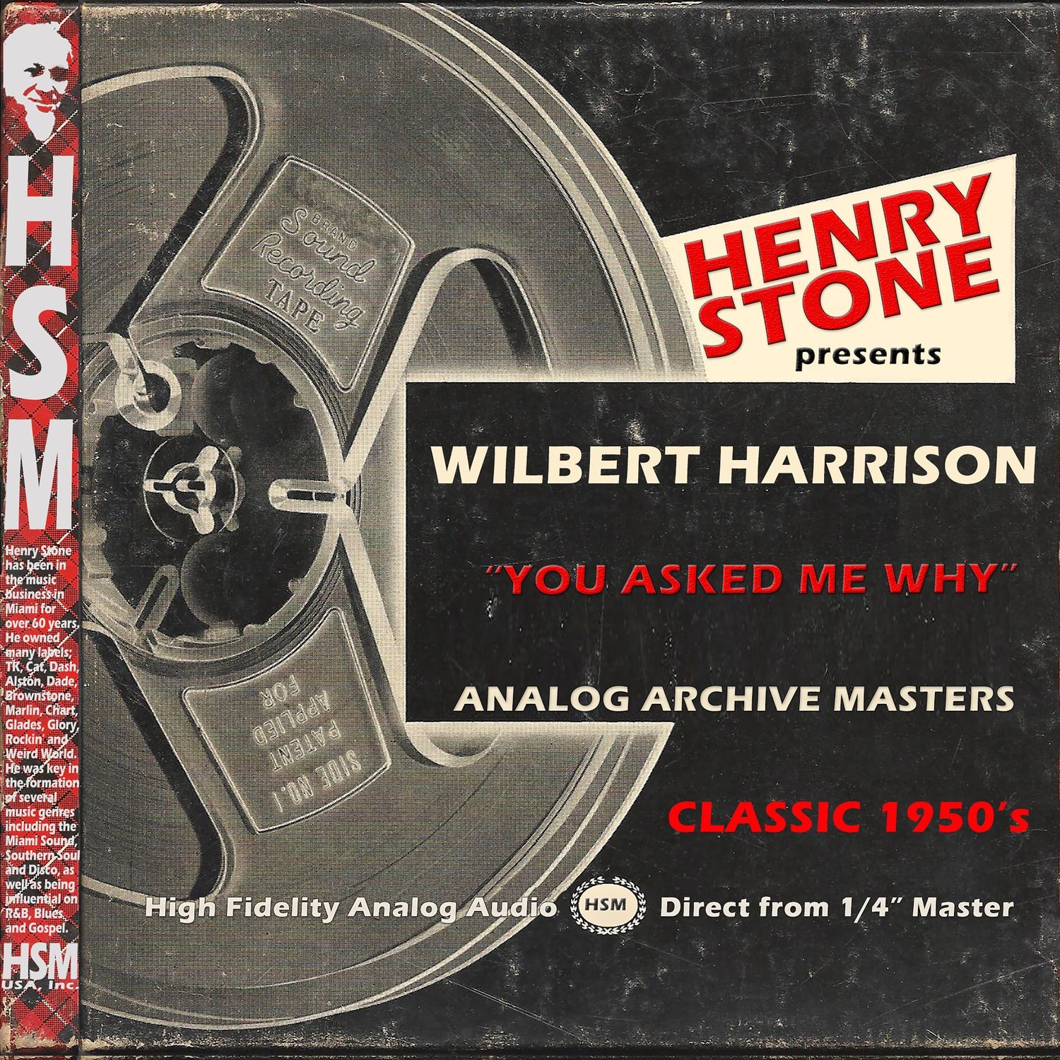 Henry Stone Presents Analog Archive Wilbert Harrison 1950's - Single