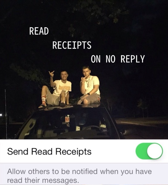 Read Receipts, No Reply
