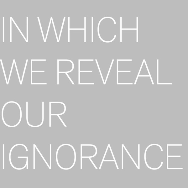 In Which We Reveal Our Ignorance