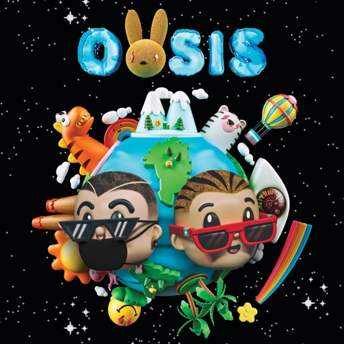 J Balvin & Bad Bunny - OASIS Album Cover Image, artowrk