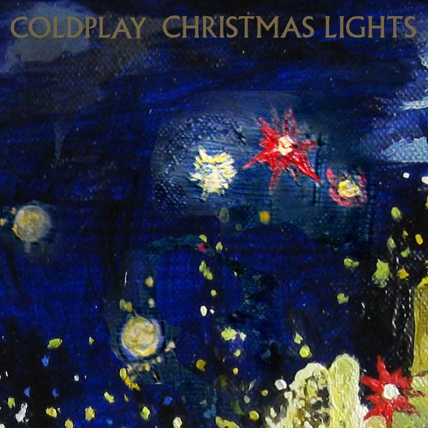Coldplay mit Christmas Lights