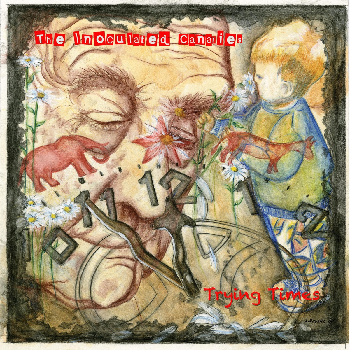 Trying Times - EP The Inoculated Canaries CD cover