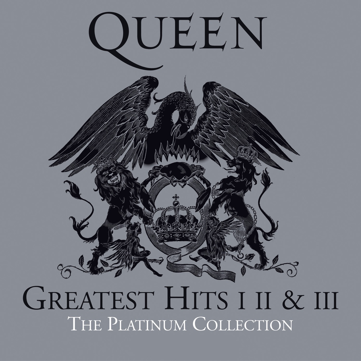 The Platinum Collection Greatest Hits I II  III Queen CD cover