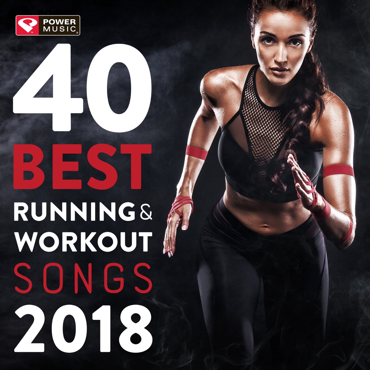 40 Best Running and Workout Songs 2018 Album Cover by Power Music