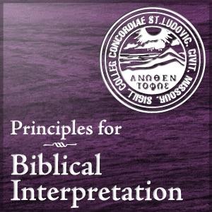 Principles for Biblical Interpretation