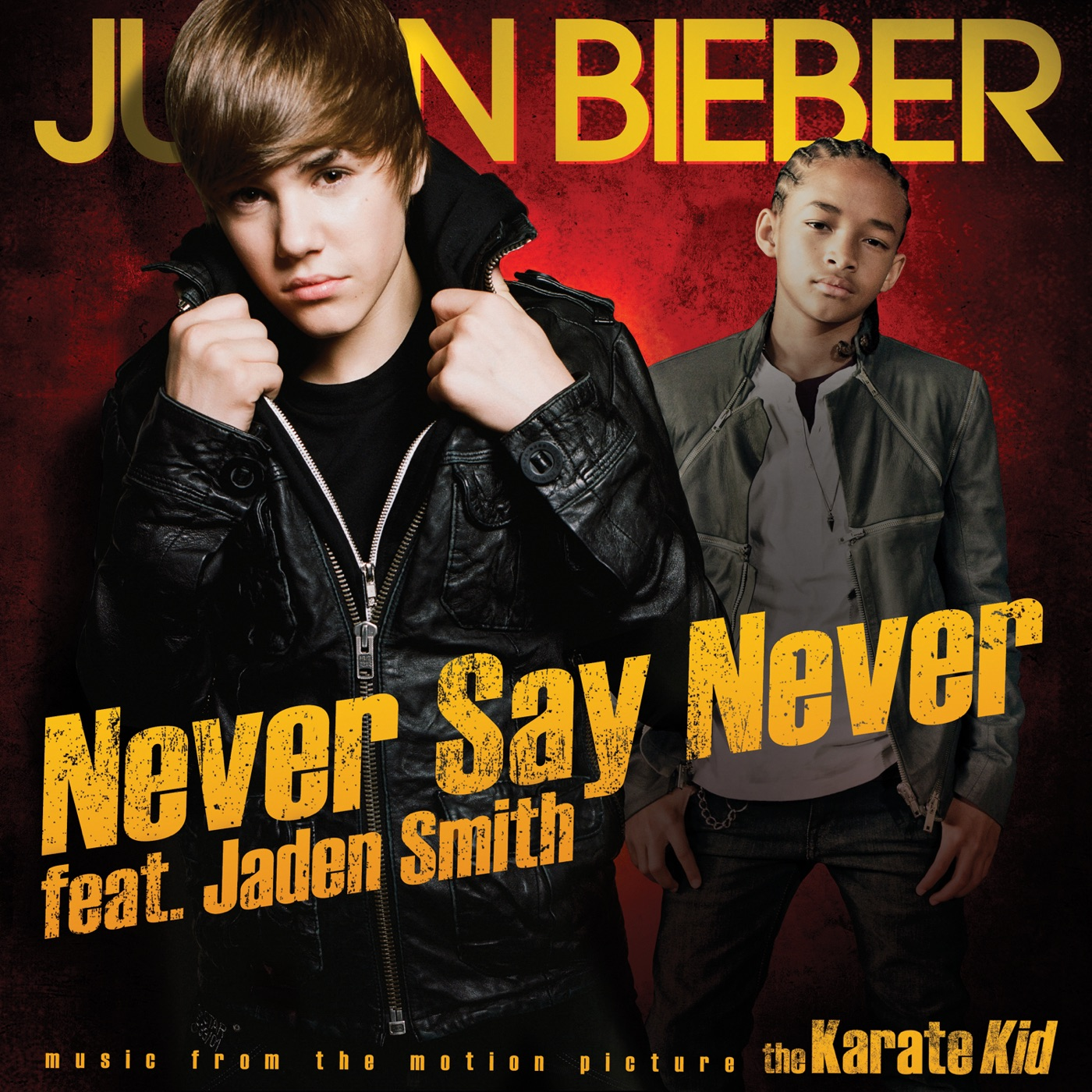 Justin Bieber - Never Say Never (feat. Jaden Smith) - Single Cover